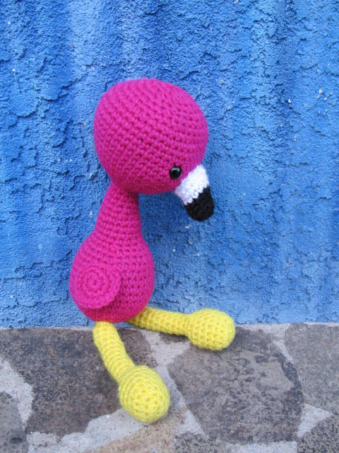 Crochet Flamingo Toy Doll