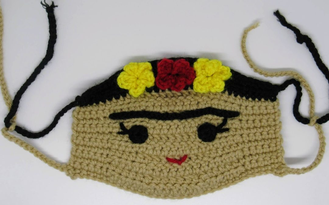 Frida Kahlo Face Mask Crochet Pattern